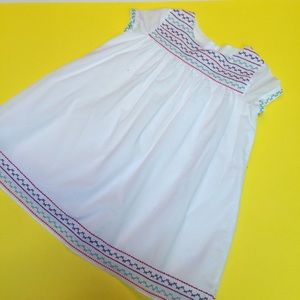 Pippa & Julie White Embroidered Dress Size 6